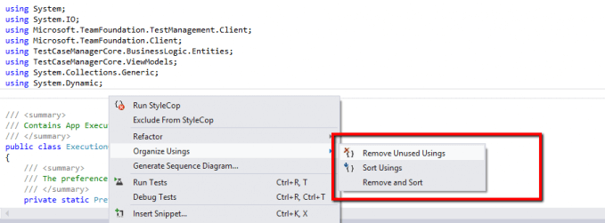Hints For Arranging Usings in Visual Studio Efficiently