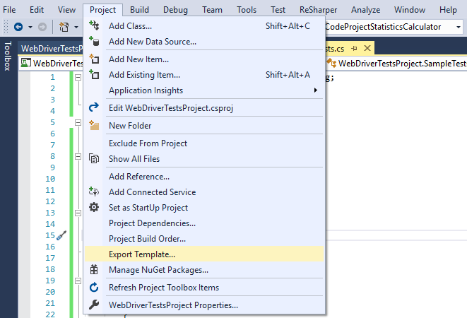 Speed up Automated Tests Writing with Visual Studio Project