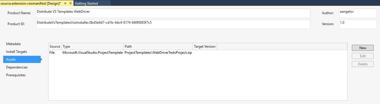 Template File Path VSIX Installer